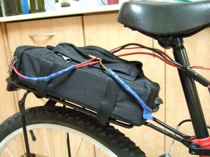 אופניים חשמליים לדוגמא - מצבר